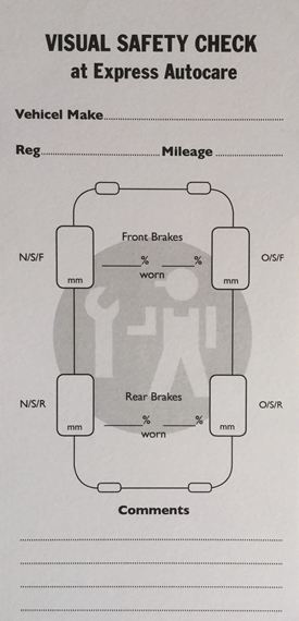 brakes visual safety check